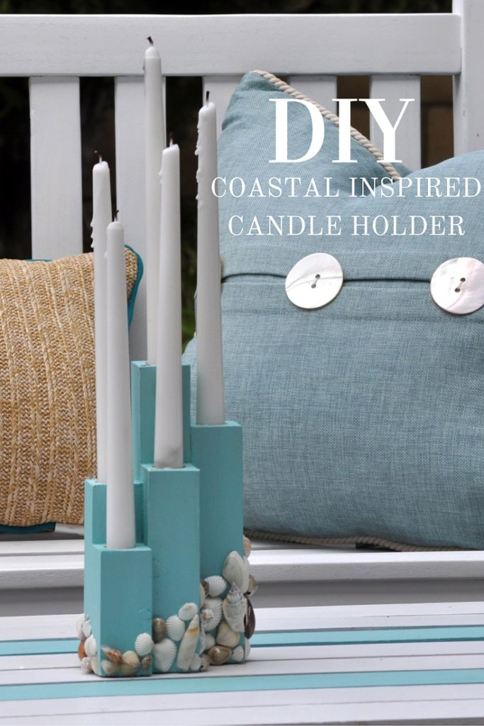DIY yourself a Coastal Inspired Candle Holder for any indoor our outdoor space in your home. Perfect for a beach decor theme or for the warmer months!