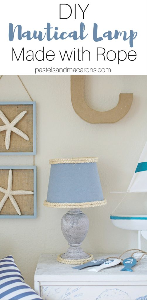 Easy to make DIY Nautical Lamp Makeover for any room in your coastal home. I simply love how this looks.