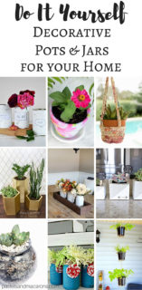 DIY Plant Pots And Decorative Jars + The Creative Corner Link Up