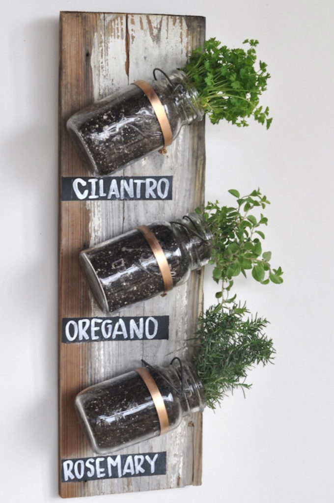 Mason Jar Herb Garden ideas for your home all year long!