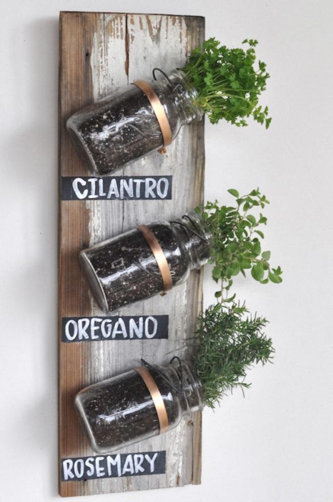 Mason Jar Herb Garden ideas for your home all year long!