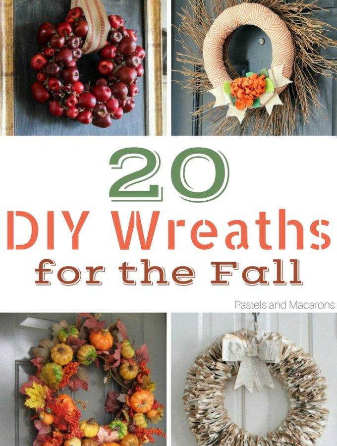 20 DIY Fall Wreaths to get you into the Autumn spirit. These are such easy fall wreaths to make for your DIY Fall decor!