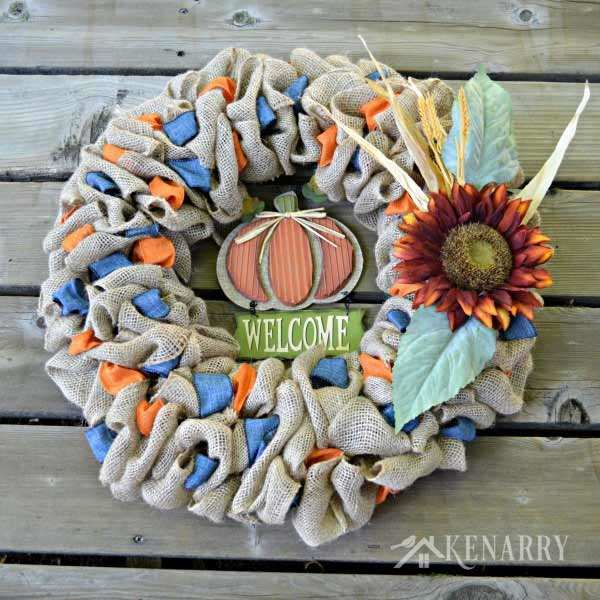 a large selection of diy fall wreaths to inspire