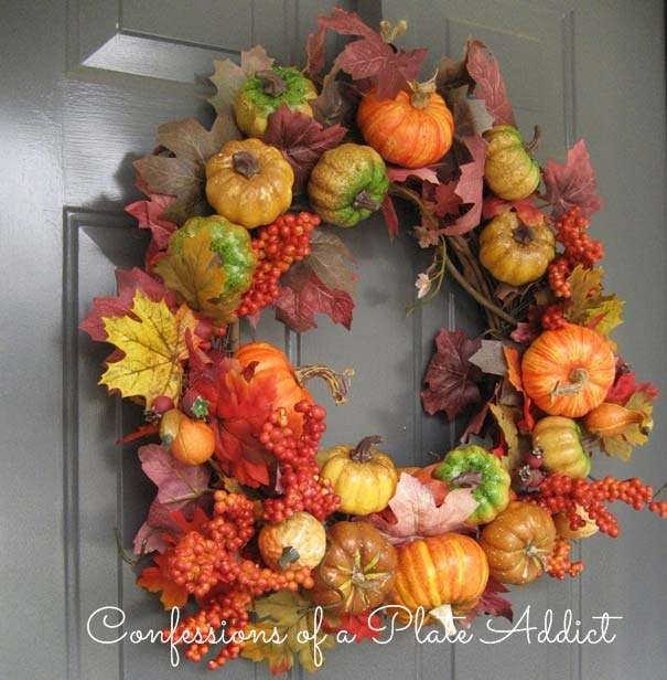 love the colors of the fall and these gorgeous diy fall wreaths