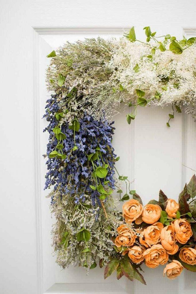 A beautiful Vintage Flower Wreath DIY