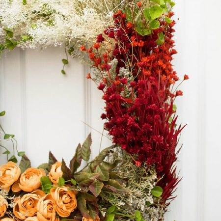 Beautiful Vintage Flower Wreath Craft