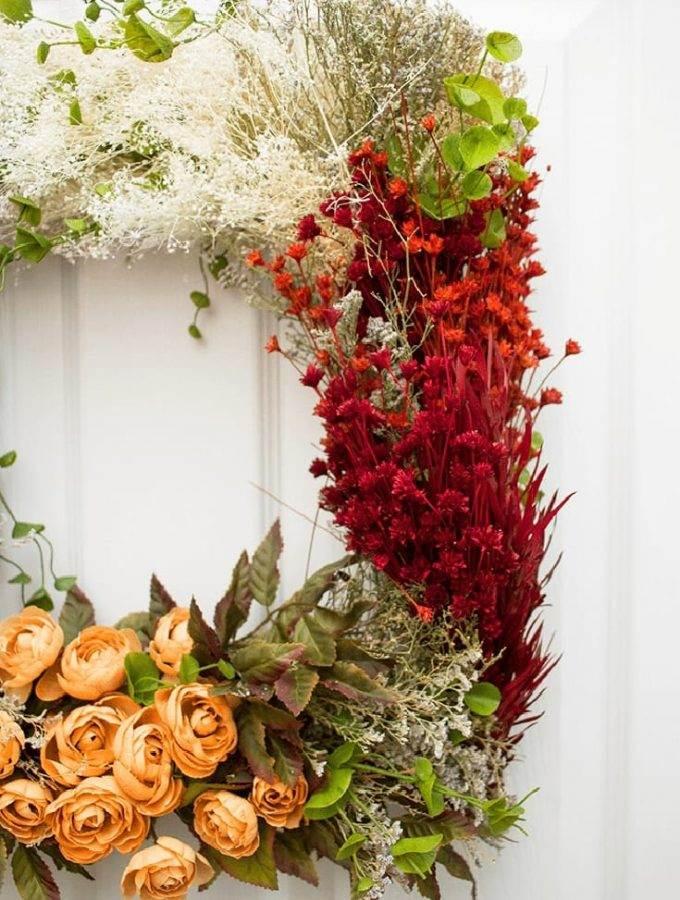 Beautiful Vintage Flower Wreath Craft