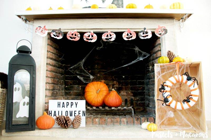 I created a garland for this years Halloween Mantel garland