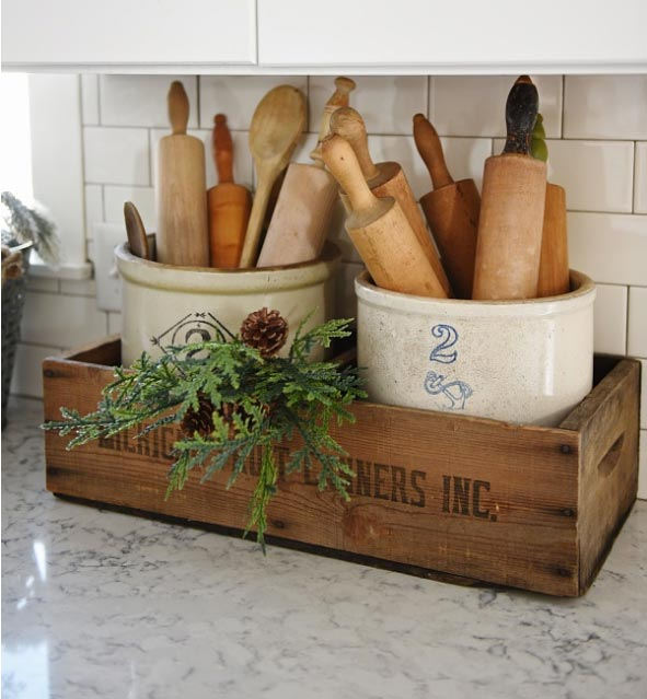 Kitchen Cupboard Organization Ideas like this one. A clever way to display everyday coking utensils and keep them organized.