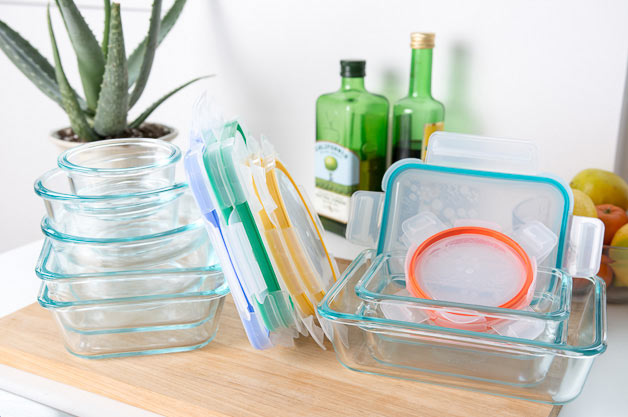 Kitchen Cupboard Organization Ideas - Using Glass containers is a great solution
