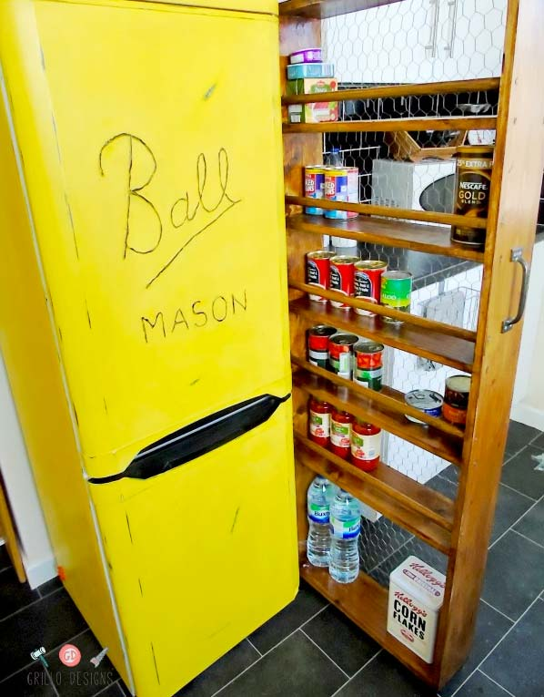 Kitchen Cupboard Organization Ideas - Make a roll out pantry