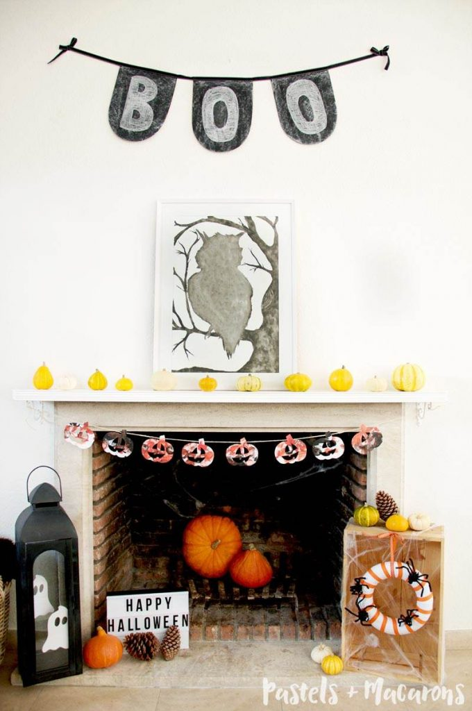 Playful Halloween Mantel Decor