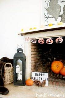 Spooky Halloween Mantel Decor Display