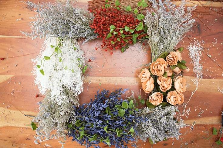 Vintage Flower Wreath for all Seasons