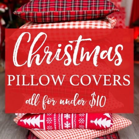 Christmas pillow covers for your holiday home decor. All of these throw pillows are under $10 from Amazon and you will love the design of every single one!