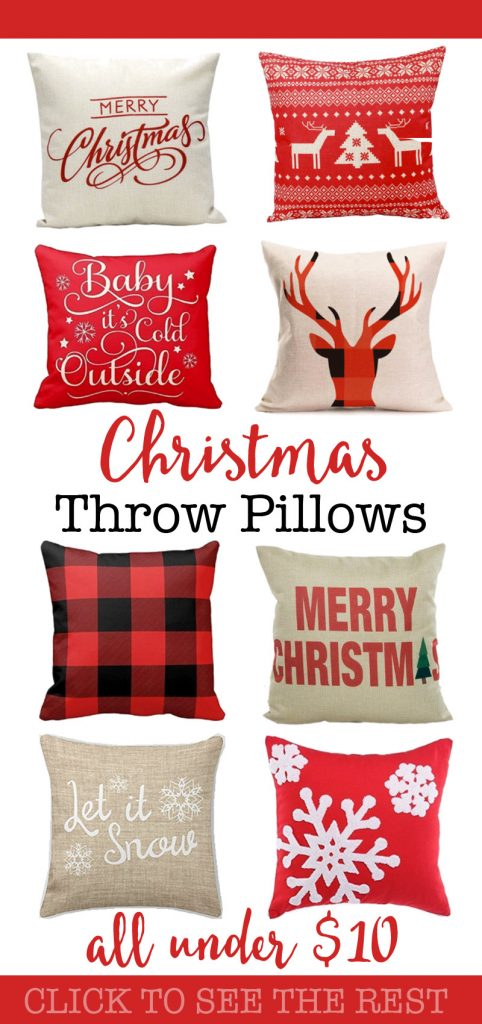 These pillow covers are THE BEST! I'm so glad I found this article about cheap Christmas throw pillows! They have listed some beautiful and budget pillows for the holidays! I love the plaid one. I can't wait to buy some for my living room!