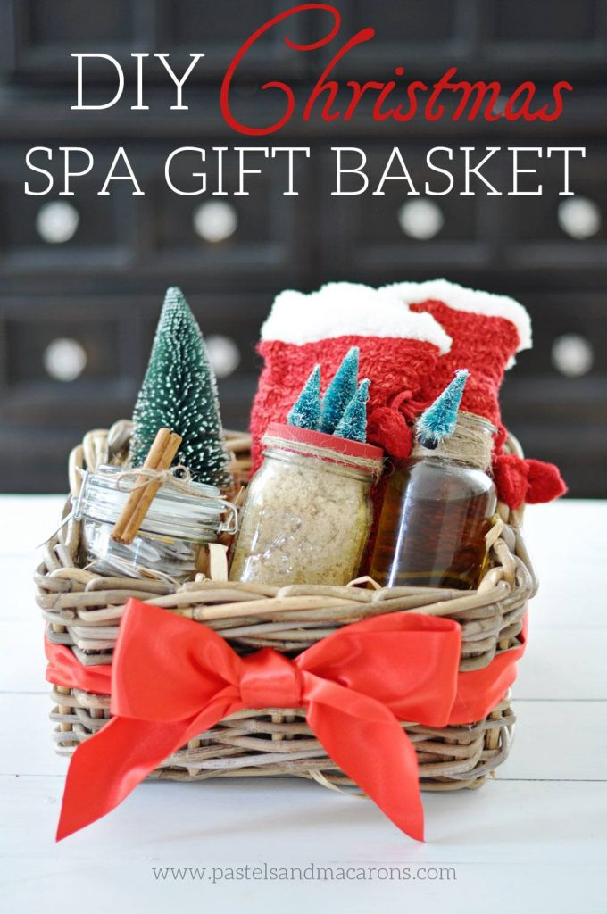 DIY Spa Gift Basket. A beautiful handmade Christmas Gift