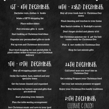 Christmas Organization Printable Checklist and Tips for a Stress Free Day
