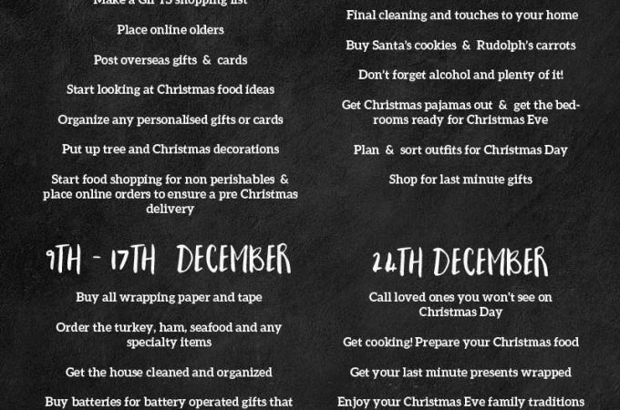 Download a Free copy of our Christmas Organization Printable checklist and read our tops for a stress free Christmas