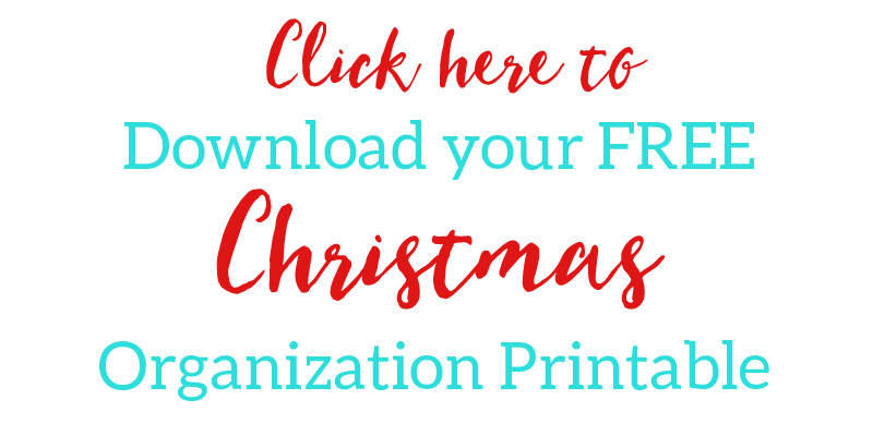 Free Christmas Organization Printable