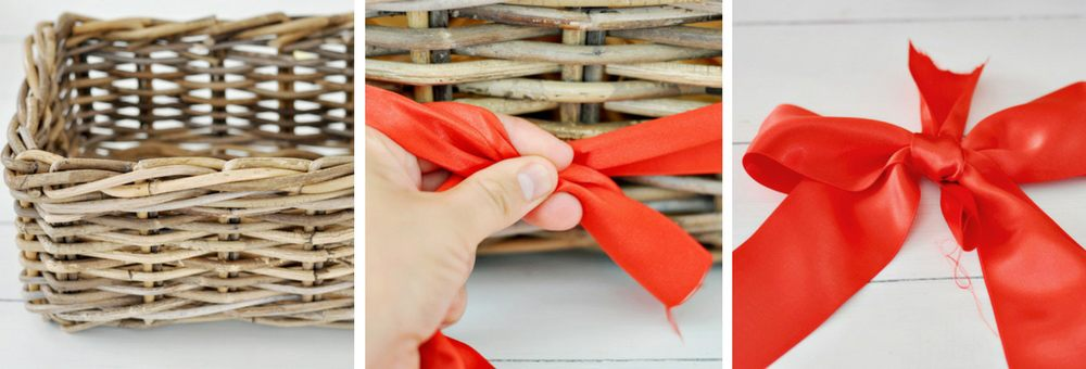 How to tie a bow for a DIY Spa Gift Basket