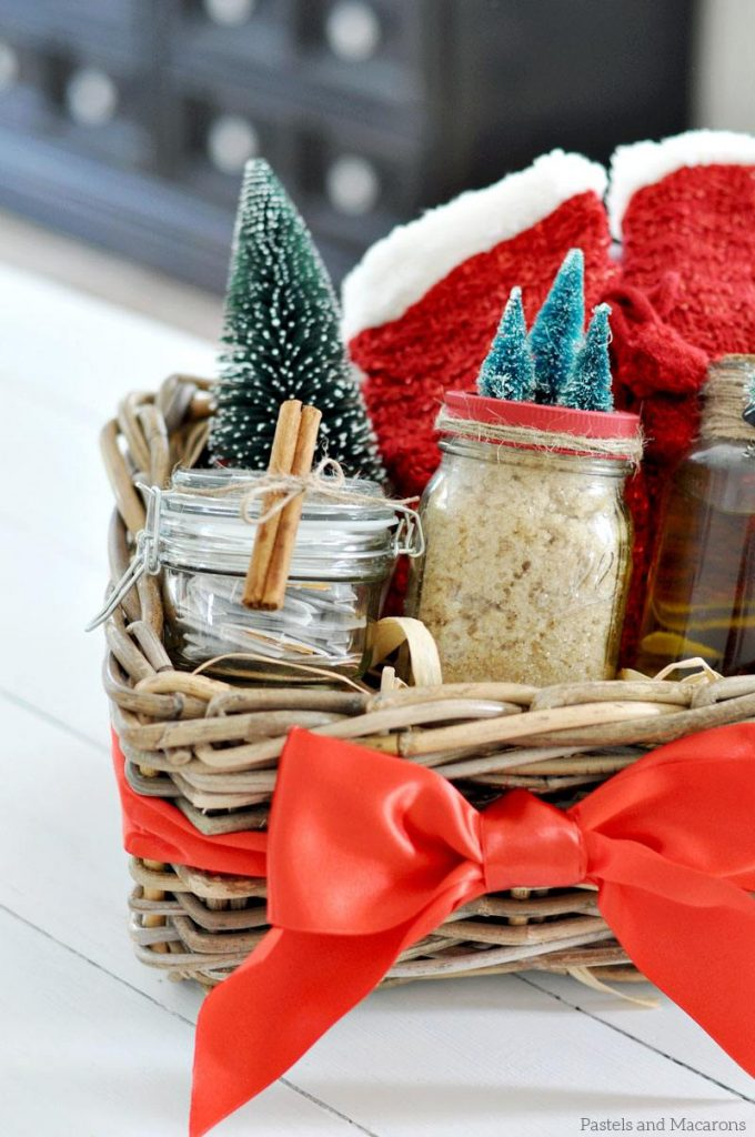 Scrub in Mason Jar for DIY Spa Gift Basket