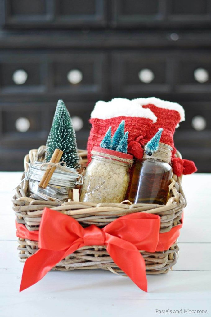 This DIY Spa Gift Basket is the perfect and thoughtful handmade gift to give this Christmas