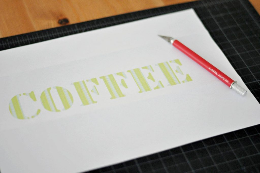 How To Make A Stencil (without owning a fancy and expensive machine!)