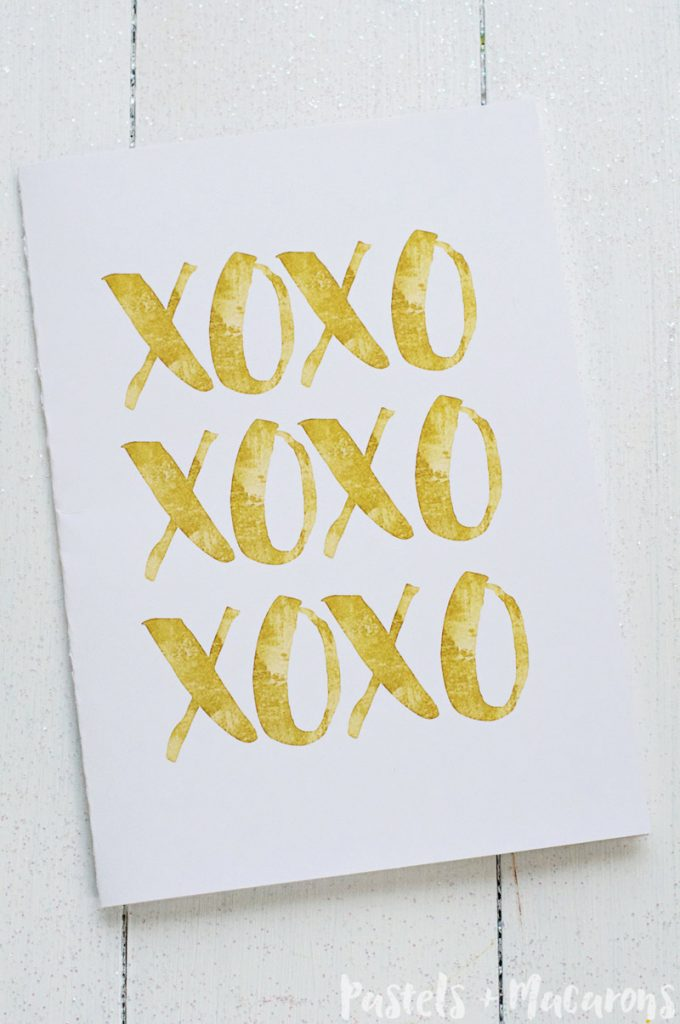 Free Gold Foil Printable Valentines Day Cards
