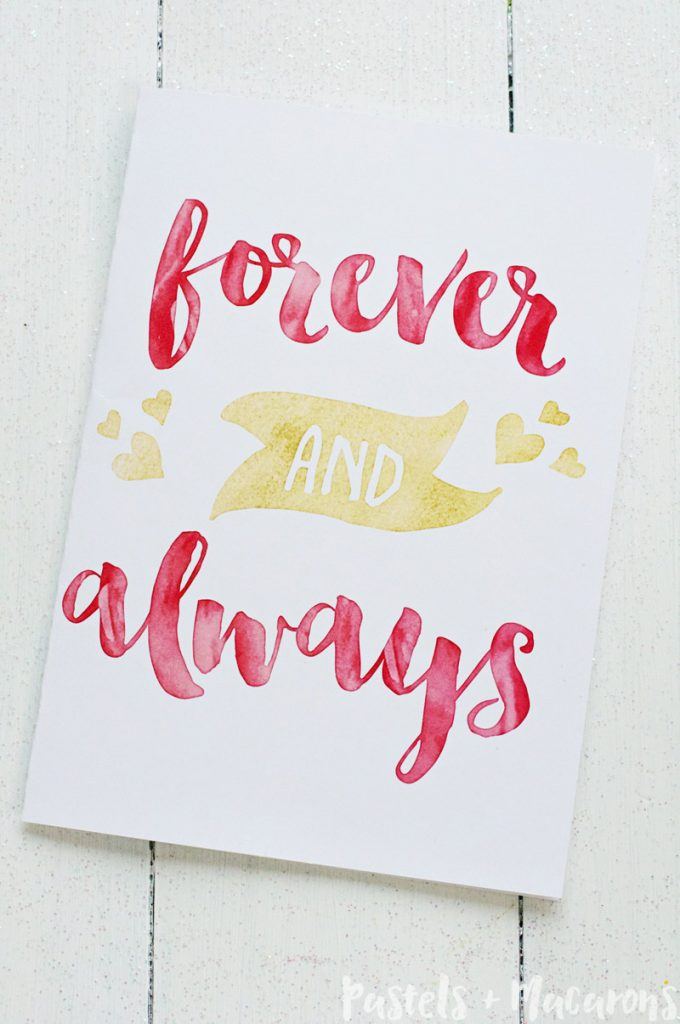Free Gold Foil Printable Valentines Day Cards ready to print