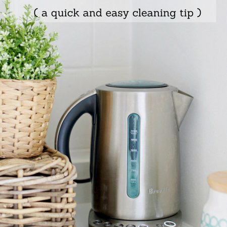 Learn how to descale a kettle with this fast and easy cleaning tip. If you ever wonder how to clean a kettle from a thick white buildup at the bottom then this article is for you.