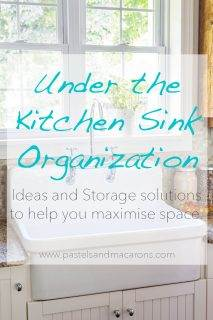 Under the kitchen sink organizing ideas and storage solutions