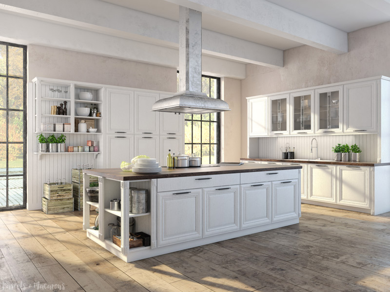 white farmhouse kitchen design ideas