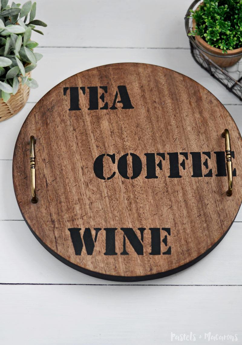 Easy to make DIY Lazy Susan turnable for the kitchen. Learn how to make this Lazy Susan and turn it into a rustic / farmhouse beauty