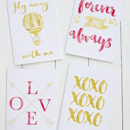 Give the one you love a beautiful card expressing how much you love them. We have a set of four FREE Gold Foil Printable Valentines Day Cards for you to gift. Choose your favorite design!