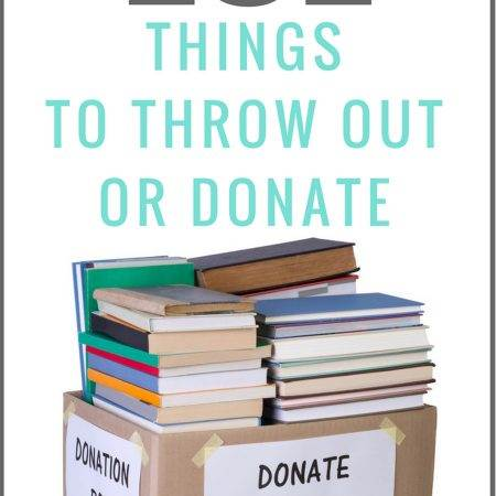 Here is a list of 101 Things to Throw Away or donate. Organize, unclutter and minimize on items you own to help you live a more organized and less cluttered life.
