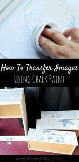 Image Transfer Technique Using Chalk Paint On Furniture
