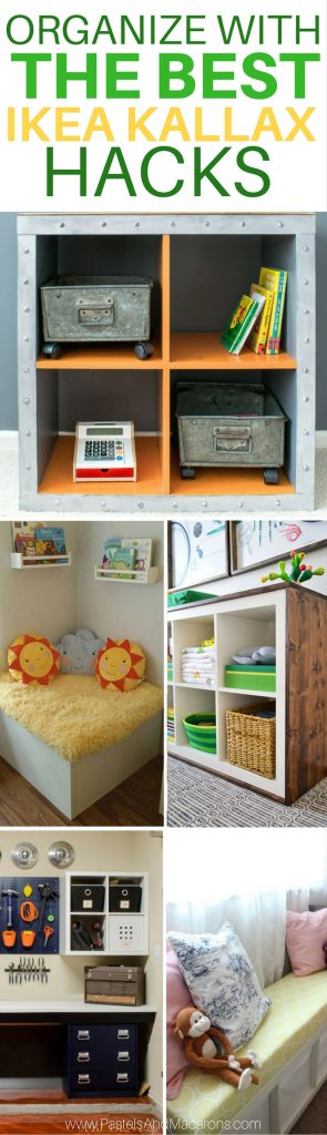 Wow! These are THE BEST Ikea Kallax Hacks I've seen to organize my home. I have so many ideas now. I could use them in my bedroom, living room and even my kitchen. So many great DIY projects in one place. Love it.