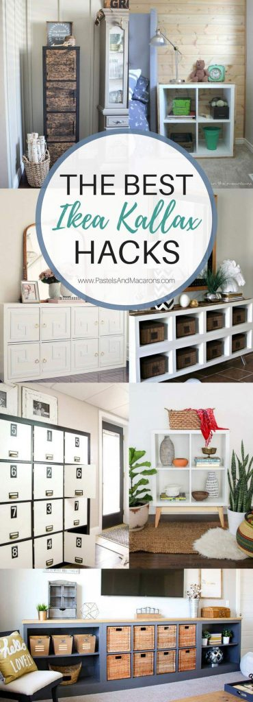See 20 of the best Ikea Kallax Hacks and the different ways you can DIY them for your home. Find ideas for every room. Hack them for your living room, kitchen, bedroom and kids rooms. Make tv stands, a cute bar, coffee station, bookcases, desk or turn it into a bench. These simple book shelves can be turned into fabulous bookcases and are so versatile. They provide fabulous storage for any space in your home while keeping it unique to your style. Go on! Why not hack one today!