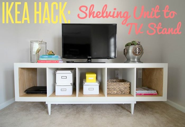 See 20 of the best Ikea Kallax Hacks ideas and the different ways you can DIY them for your home. A popular use for them is as tv stands that also provide storage.