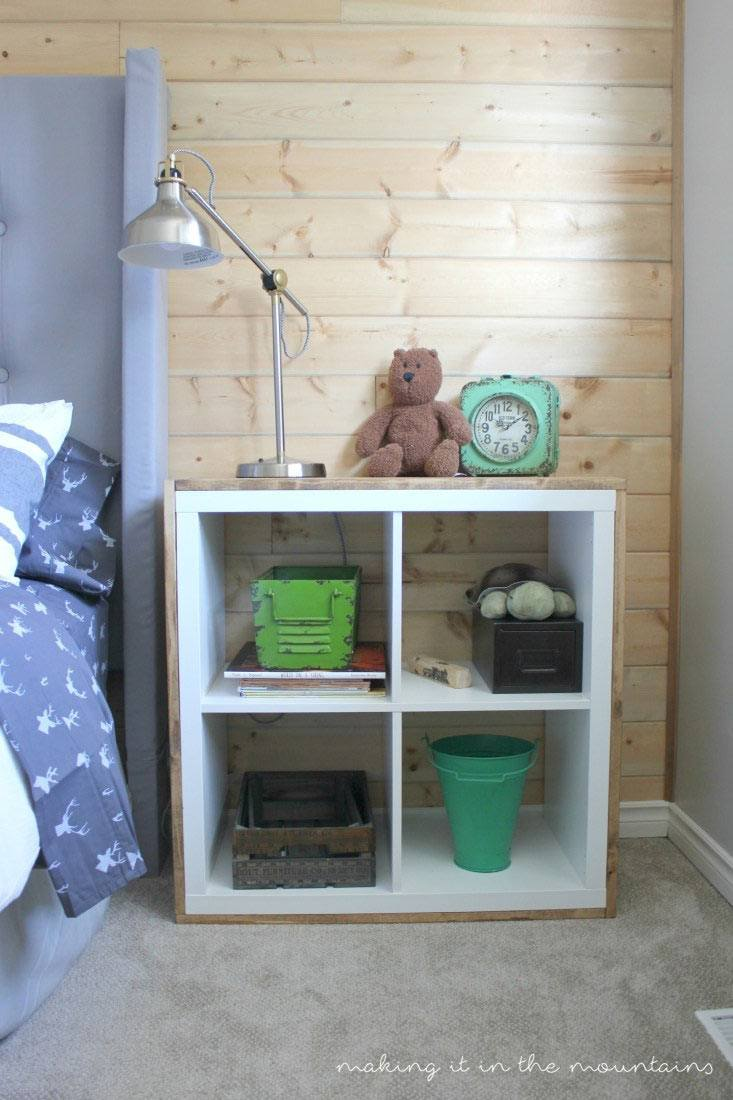 See 20 of the best Ikea Kallax Hacks ideas and the different ways you can DIY them for your home. Use the ikea kallax for storage as a night stand in your kids rooms.