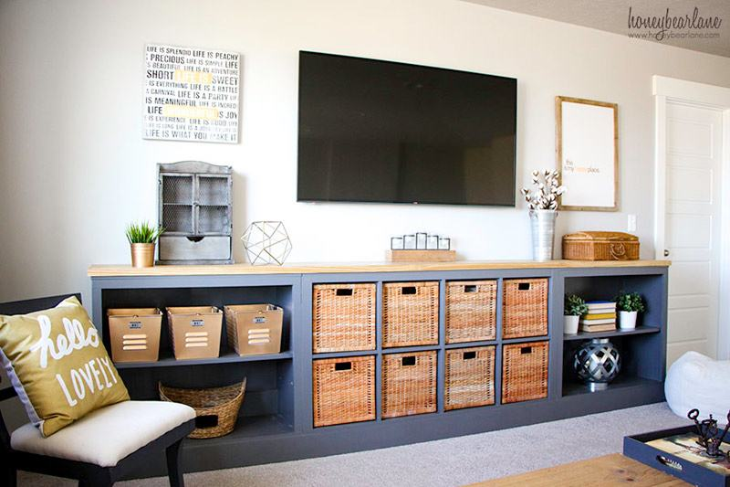 The best ikea kallax hacks and 20 different ways to use them for Ikea living room storage ideas