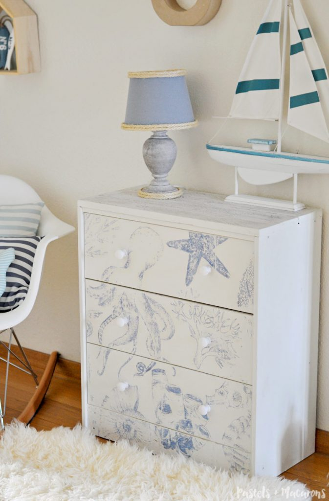 transforming ikea furniture. DIY Ikea Rast Hack Nightstand / Dresser With A Beautiful Coastal Style Decor Finish. This Transforming Furniture