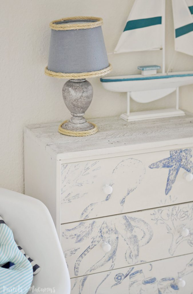 DIY Coastal / Nautical Ikea Rast Hack home decor dresser / nightstand