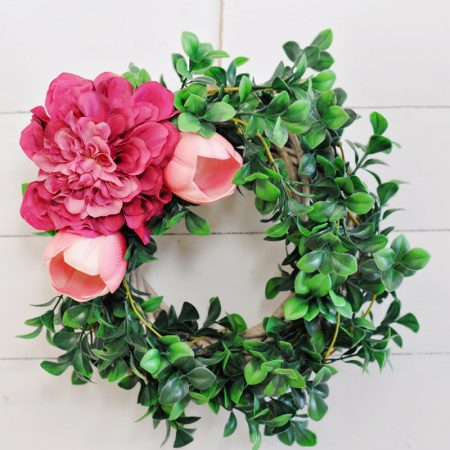 DIY Spring Wreath Using Flowers : No Glue Required!