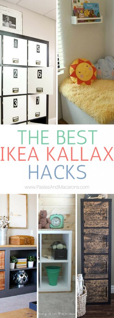 We LOVE these 20 of the best Ikea Kallax Hacks and the different ways you can DIY them to organize your home. Find ideas for every room. Hack them for your living room, kitchen, bedroom and kids rooms. Make tv stands, a cute bar, coffee station, bookcases, desk or turn it into a bench. These simple book shelves can be turned into fabulous bookcases and are so versatile. They provide fabulous storage for any space in your home while keeping it unique to your style.