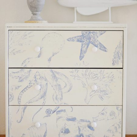 Coastal / nautical Ikea Rast Hack dresser / nightstand idea