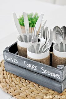 DIY Tin Can Silverware Caddy : 10 Minute Craft