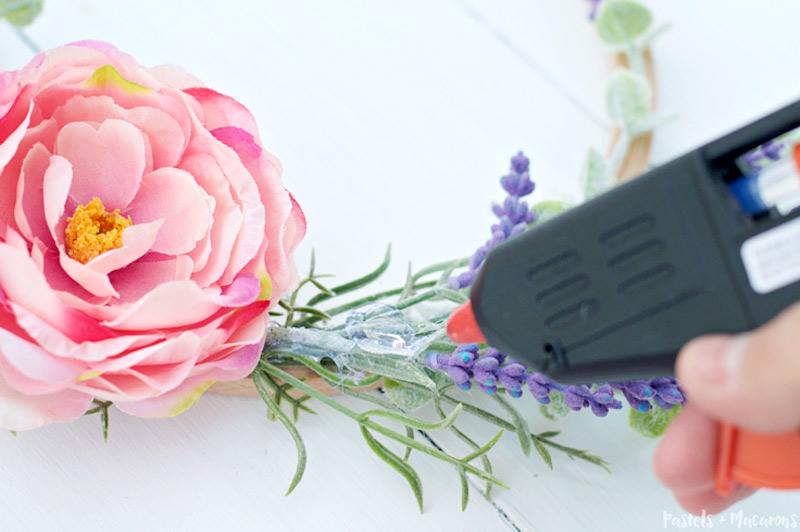 lavender wreath embroidery hoop diy