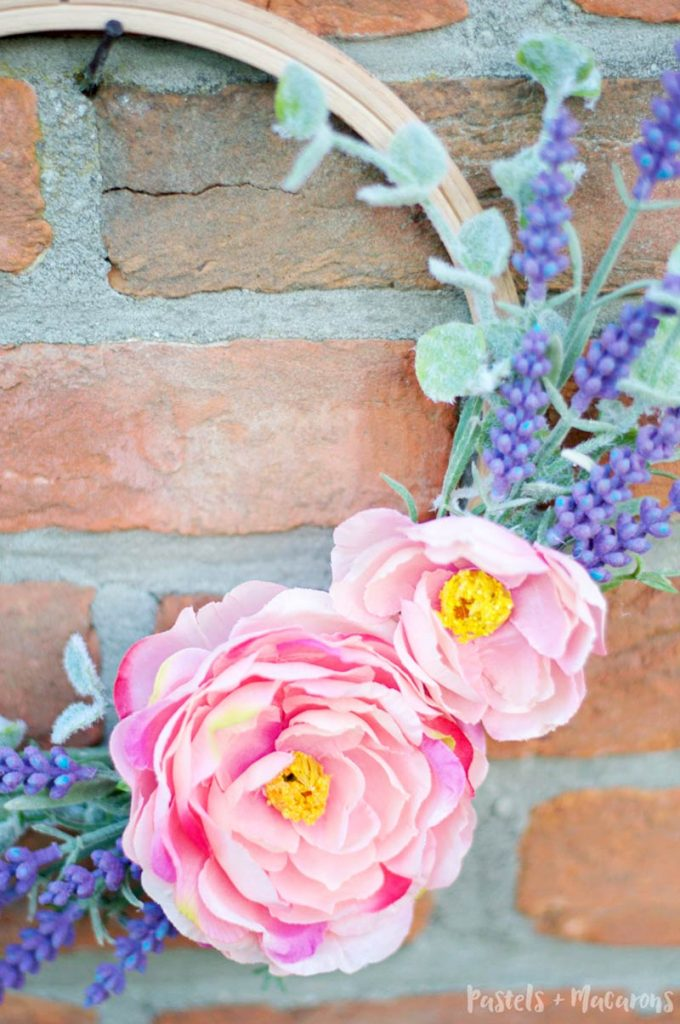 DIY faux lavender wreath DIY